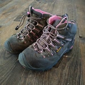 Girls Keen Size 1 Waterproof Hiking Boots